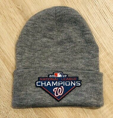 2019 WASHINGTON NATIONALS NATIONAL LEAGUE CHAMPIONS Patch Style Beanie Toboggan