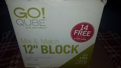 """AccuQuilt GO! Qube Mix & Match 12"""" Block with 14 free patterns NEW"""