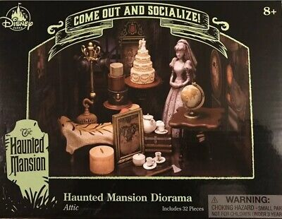 Disney Parks The Haunted Mansion Diorama Attic 32 Pieces Come Out And Socialize