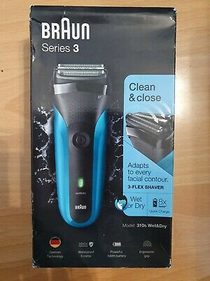 New Braun Series 3 310s Men's Electric Foil Shaver, Wet and Dry Rechargeable.