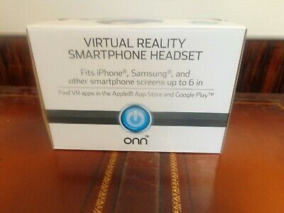 NEW ONN Virtual Reality Smartphone Headset up to 6 inch screens BLUE