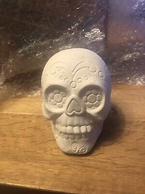 Bisque Ceramic Candy Skull Paint Your Own