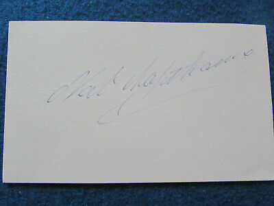 """HAND SIGNED - Nat Lofthouse - Bolton Wanderers (1946-60) - 5""""x3"""" Card"""