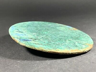 Ancient Viking Bronze Large Mirror With Handle - Very Rare - Circa. 700-800Ad