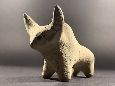 Superb Archaic Indus Valley Terracotta Highly Decorated Zebu Bull Circa 2000Bc