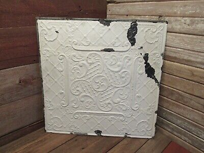 Vintage Antique 1800's Tin Ceiling Tile Arts Crafts Bedroom Kitchen Bathroom!