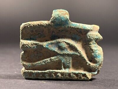 Beautiful Ancient Egyptian Stone Eye Of Horus Amulet Pendant Circa 1400-900Bce
