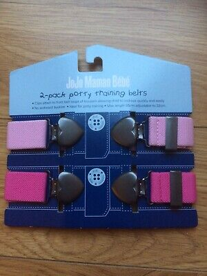 Bnwt 2-Pack PINK Jojo Maman Bebe Potty training Belts