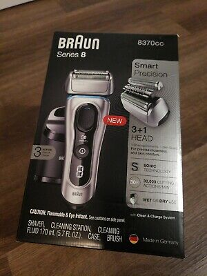Braun Series 8 Mens Electric Shaver Wet Dry Sonic Technology 8370cc.