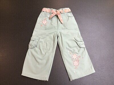 Mothercare Girls Green Cargo Style Trousers.  Age 18-24 Months