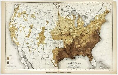 20x24 1875 County Map of Texas Counties and Indian Territory
