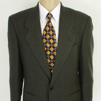 38 S Yves Saint Laurent Brown Tweed Pure Wool 2Btn Mens Jacket Sport Coat Blazer