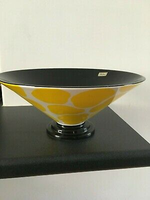 Fitz & Floyd Hand Painted Abstract Vintage Bowl