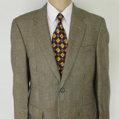 38 R Jos A Bank Beige Black Silk Camel Hair Mens 2 Btn Jacket Sport Coat Blazer
