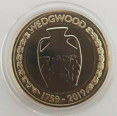 2019 Royal Mint Josiah Wedgwood Two Pounds £2 coin Brilliant Uncirculated BU UK