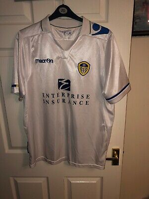 2011/2012 Leeds United home football shirt XL men's Macron Enterprise LUFC