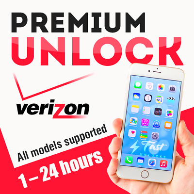 VERIZON PREMIUM UNLOCK SERVICE FOR ALL IPHONE MODELS 90-99/% SUCCESS RATE