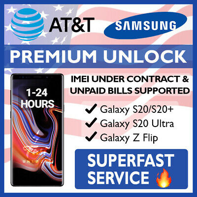 At&T Premium Unlock Code Service For At&T Samsung Galaxy Note 10 10+ 9 S10 S10+