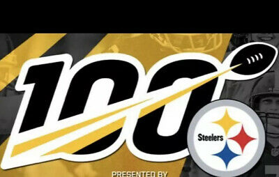 "2019 100th YEAR ANNIVERSARY PITTSBURGH STEELERS NFL 5"" PATCH 100 YEARS IRON ON"