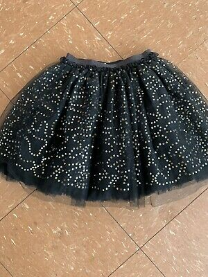 Girls Party Sequinned Tutu Skirt Size 9 Years Black Layers Pretty