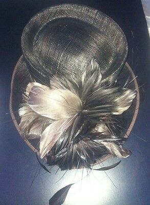 Brown/Wedding/Occasion/Races/Mother of the Bride/Formal/Hat Feather Detail