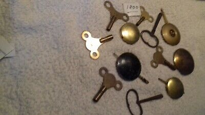 clock parts  pendulums and keys x 12       free postage