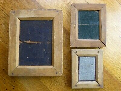 3 x handmade wooden frames for early photos