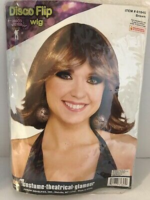 1970s Mens Disco Fever Shaggy Brown Wig Halloween Cosplay Party Costume HM-276
