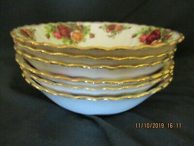 6 Royal Albert Old Country Roses CEREAL Bowls