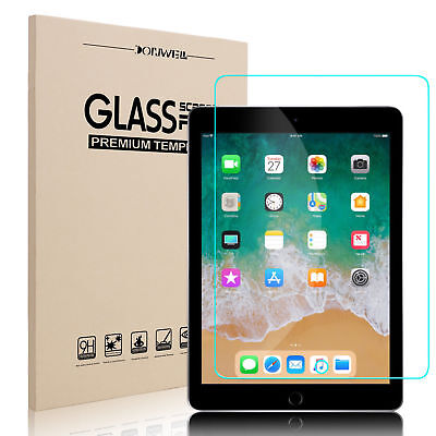 For iPad 6th Generation 9.7'' 2018 Original Tempered Glass Screen Protector Skin