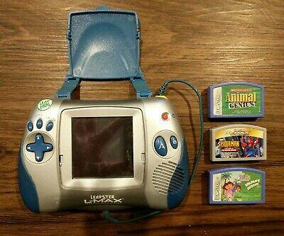 Leapster L-Max Learning Game System Dora Spiderman Animal Genius Leap Frog WORKS