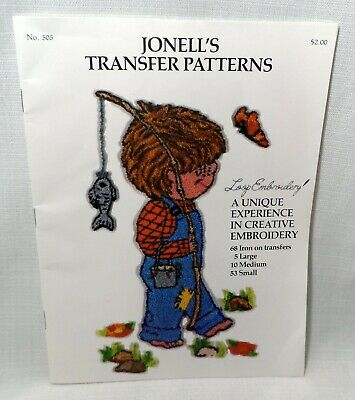 Vintage Jonells Transfer Patterns Loop Embroidery Punch Needle Iron on Transfers