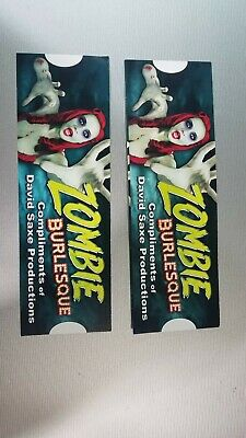 2 Las Vegas VIP show ticket to Zombie Burlesque at Planet Hollywood Las Vegas