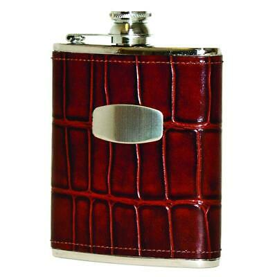 Bisley 170ml Marron Windsor Croco Cuir Flasque