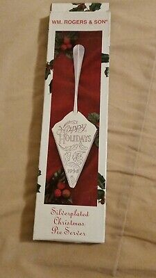 1998 Vintage WM. Rogers & Son Silver-Plated Holiday Server (NEW) Light Toning