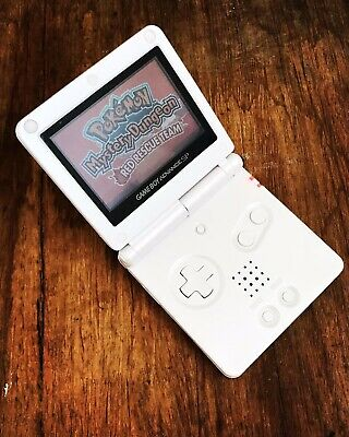 Gameboy Advance SP Clear Edition AGS-001 GBA SP Handheld Gaming Console White