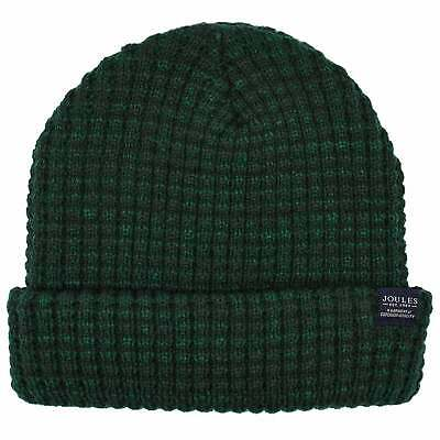 Joules Bamburgh Cable Knit Mens Headwear Hat - Racing Green One Size
