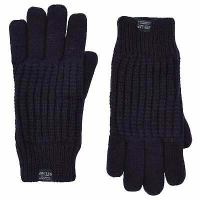Joules Bamburgh Knitted Mens Gloves - Midnight All Sizes