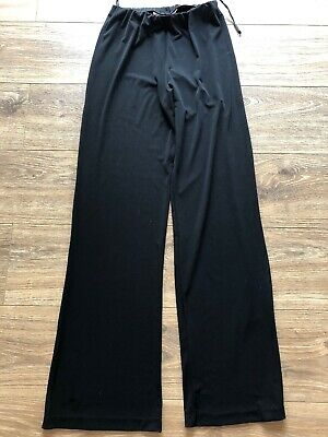 Vintage Gerry Shaw Black Slinky Stretchy Palazzo Pants Size 10 Cruise Wear