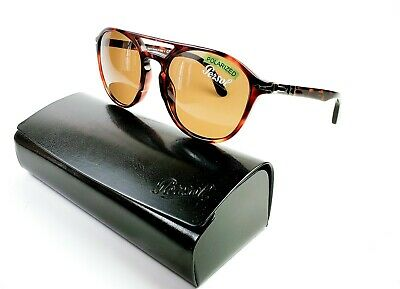 Persol PO 3170S 9015//57 Havana with Brown Polarized Sunglasses 3170-S 55mm