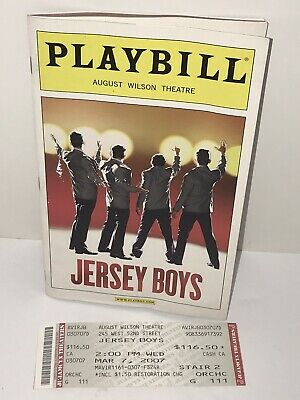Jersey Boys Broadway Playbill August Wilson Theatre John Lloyd Young 2007 Ticket