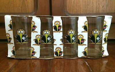 Rare 1990 Commonwealth Games Auckland New Zealand Set Of 4 Glass Tumblers