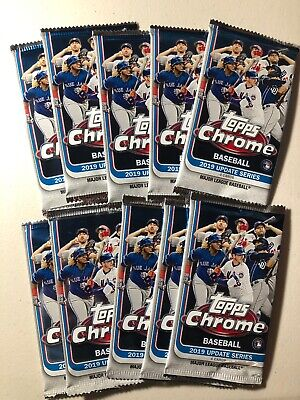 10 2019 Topps Chrome Update Factory Sealed Pack Lot 40 Cards!!🔥⚾️