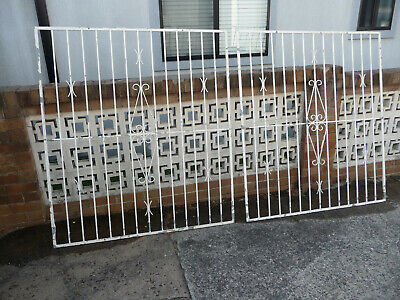 Steel Wrought Iron Style Decorative Driveway Gate or Window Security Bars