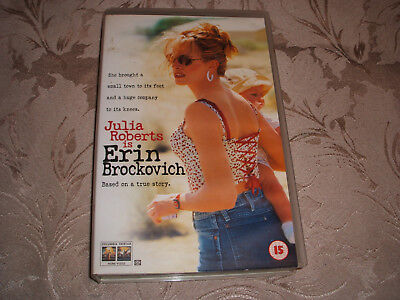Vhs Video Tape.......( Big Box )........Erin Brockovich.............free Postage