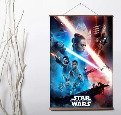Star Wars The Rise of Skywalker 2019 Movie Art Canvas poster wood scroll