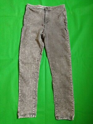 Girls Size 12 - 13 Years High Waisted Jeggins leggings Charcoal grey Colour