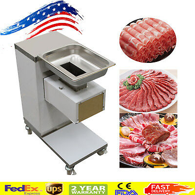 USA Stainless Steel Commercial Meat Cutter 3mm Blade Meat Cutting Machine Cutter