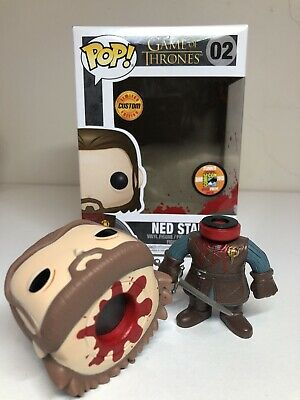 Funko Pop Vinyl CUSTOM Headless Ned Stark SDCC2013 Game Of Thrones Magnetic Head