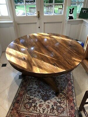 Large Circular Antique Dining Table